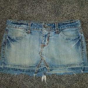 Hot kiss denim mini skirt size 7 28